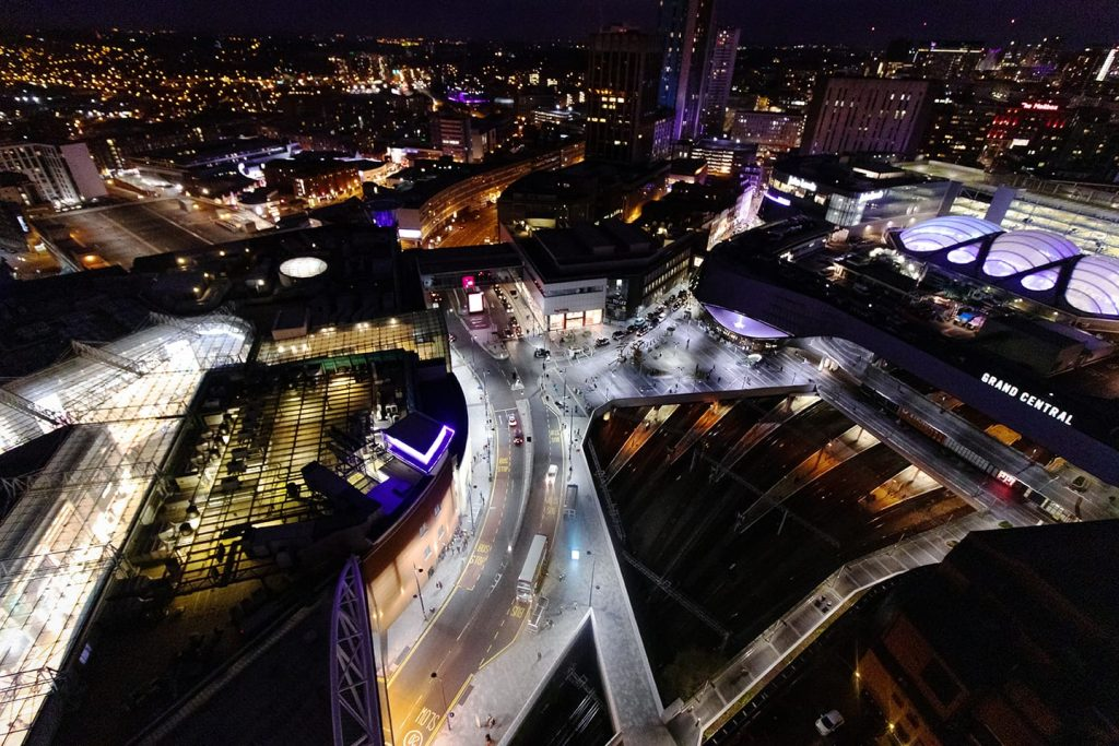 Grand central and Bullring Birmingham looking down from Rotunda by Pete Horrox