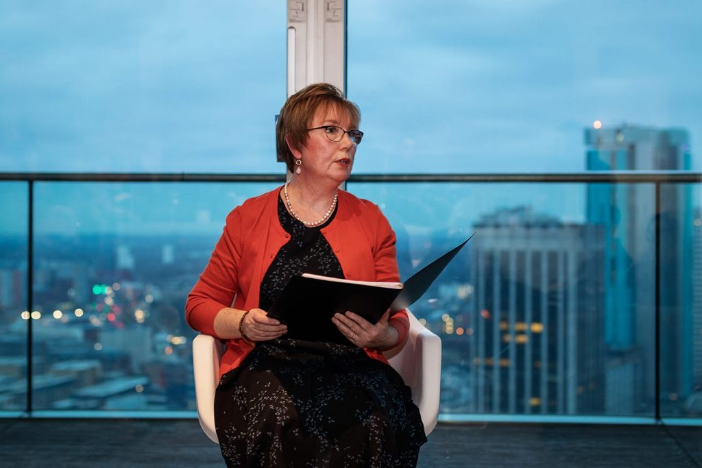 Roz Goddard reads at Poetry in the Penthouse