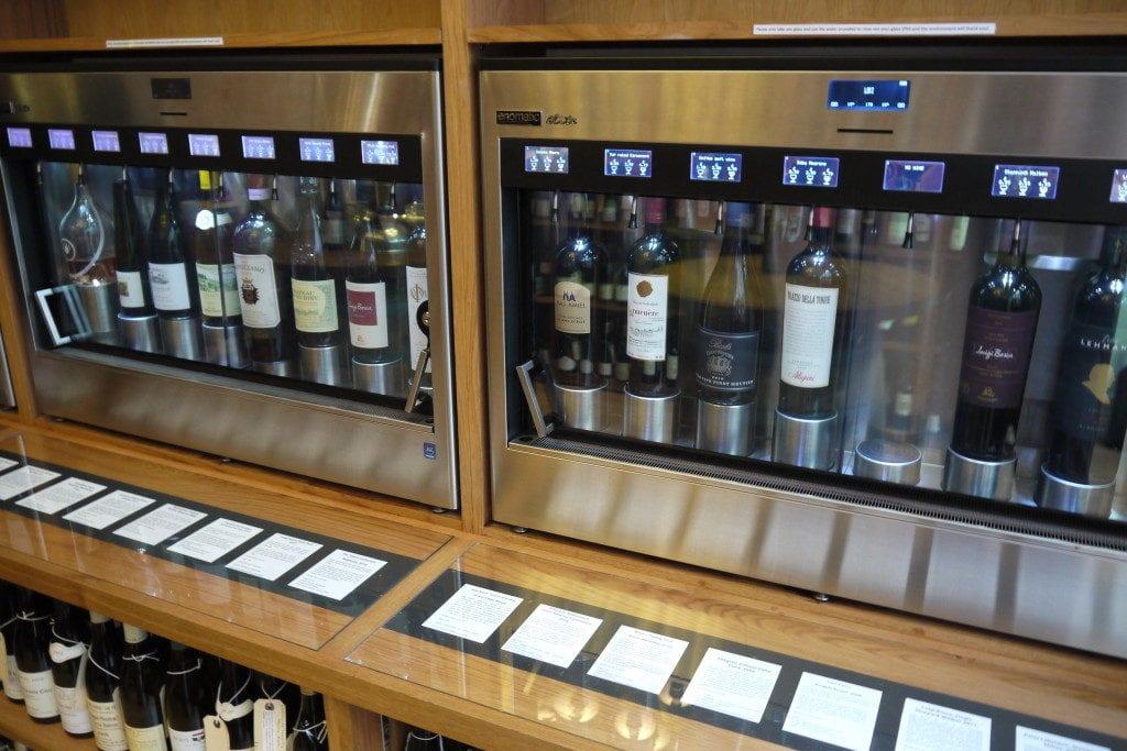 Wine dispensing machines at Loki Wine Birmingham
