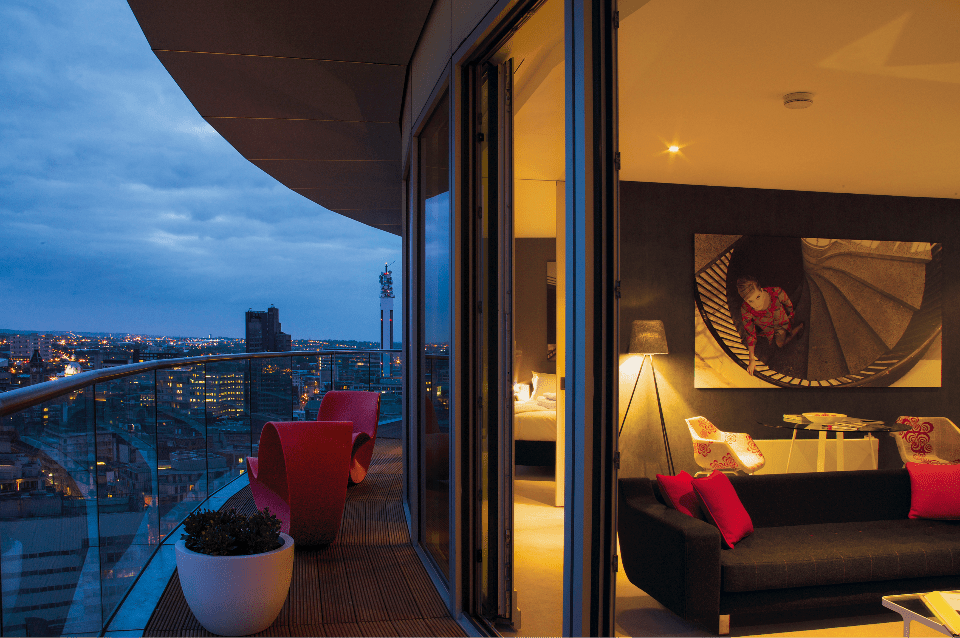 5* accommodation in Birmingham Staying Cool penthouse apartment